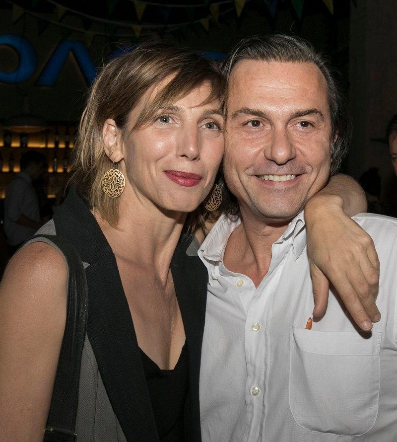 Η ηθοποιός Αγγελική Δημητρακοπούλου και ο συμπρωταγωνιστής της στο «Λόγω Τιμής», Δημήτρης Αλεξανδρής