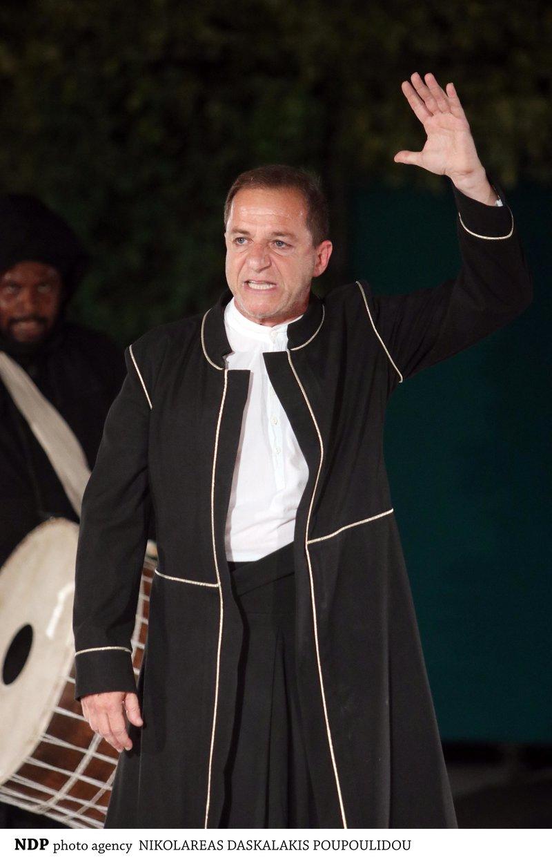 Ο Δημήτρης Λιγνάδης στην παράσταση Οιδίπους Τύραννος