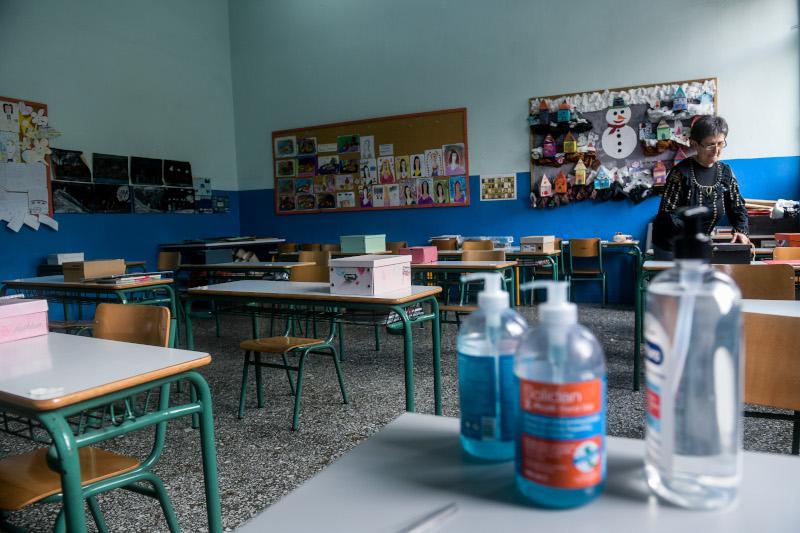 δημοτικά σχολεία σχολική αίθουσα θρανία αντισηπτικά