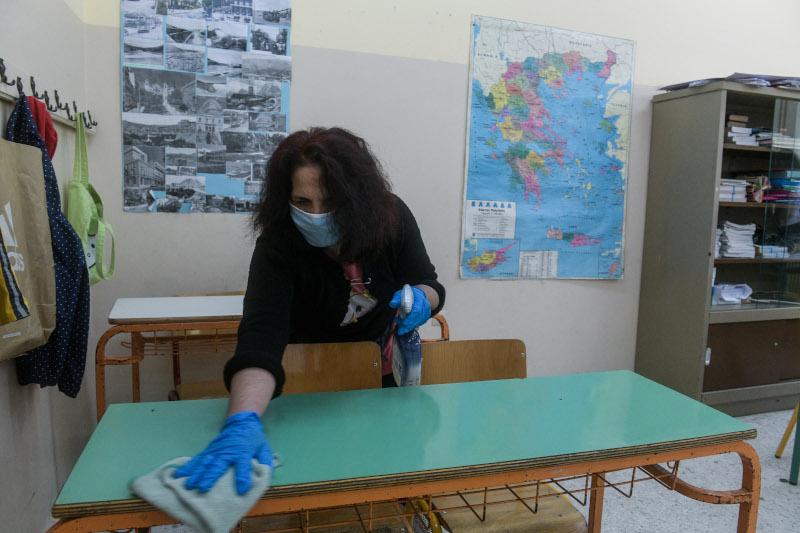 δημοτικά σχολεία σχολική αίθουσα καθαρισμός θραίου