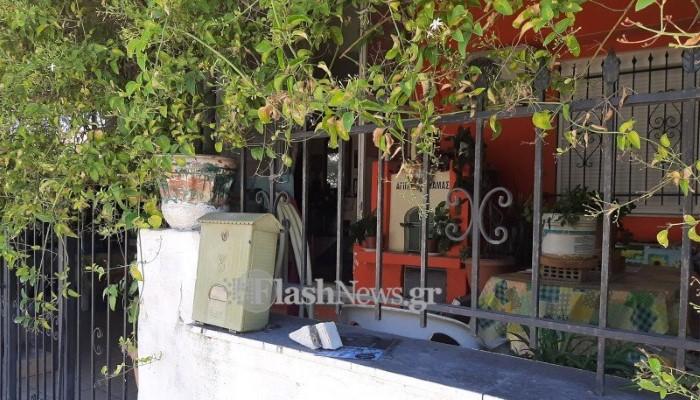 Το σπίτι της άτυχης 79χρονης στο Πασακάκι Χανίων
