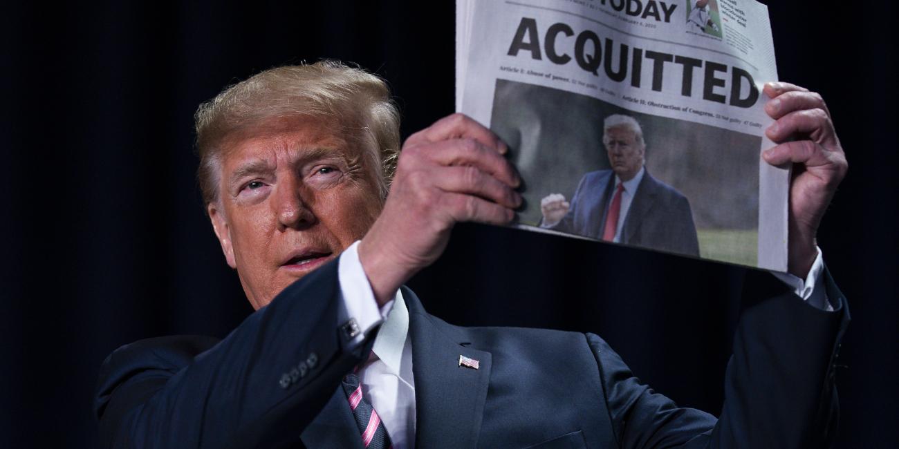 Απίστευτος Τραμπ: Η παραπομπή μου ήταν μ@λ@κί@! -Διάγγελμα για την αθώωσή του [εικόνες & βίντεο]