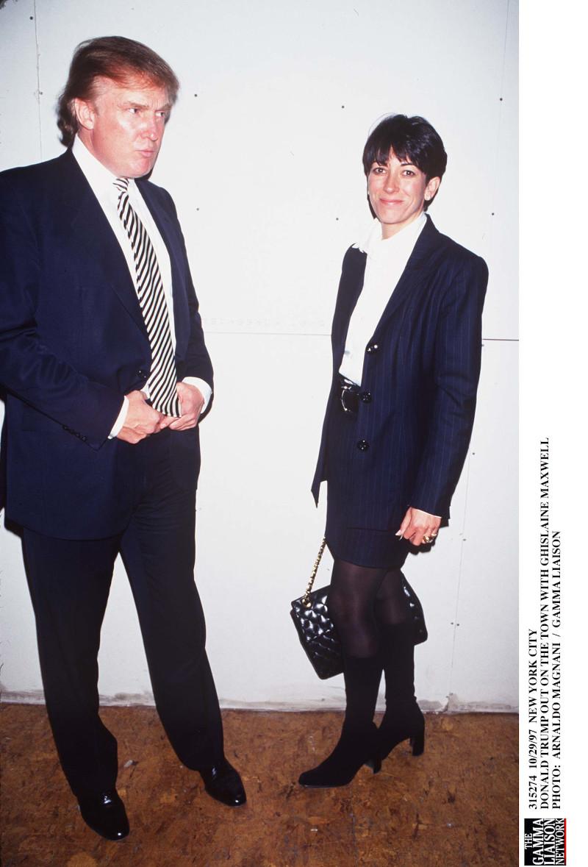 Ο Ντόναλντ Τραμπ με την «προαγωγό» του Έπσταϊν,  Γκισλέιν Μάξγουελ