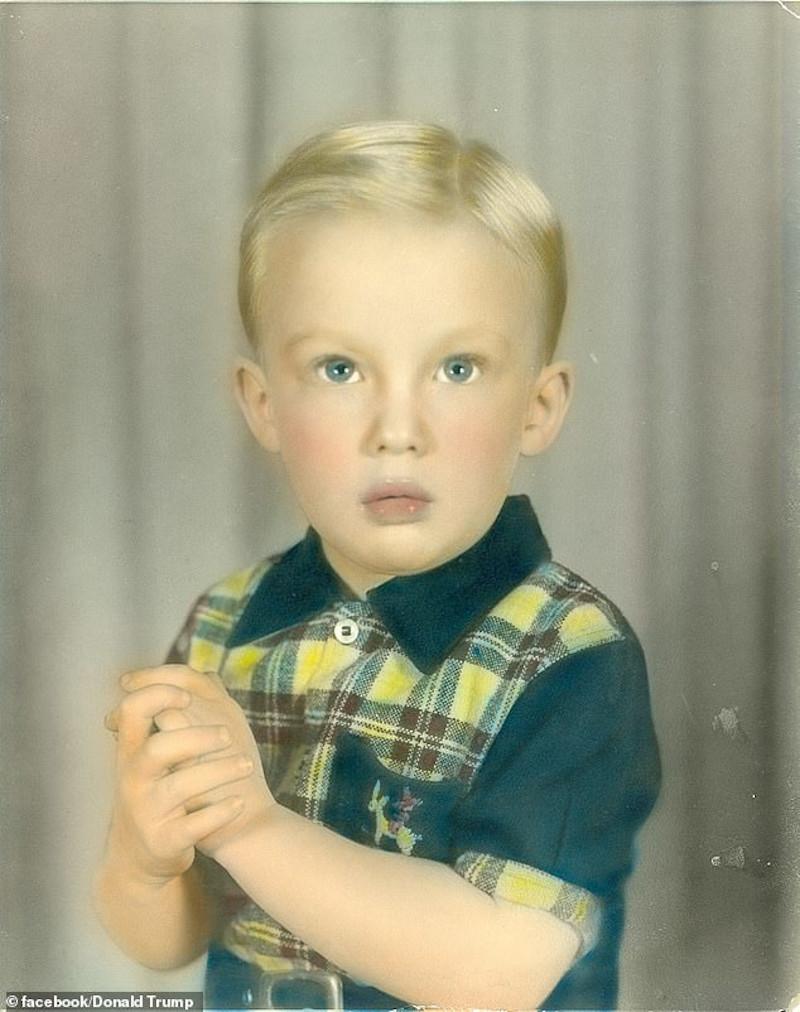 Ο Ντόναλντ Τραμπ σε παιδική ηλικία
