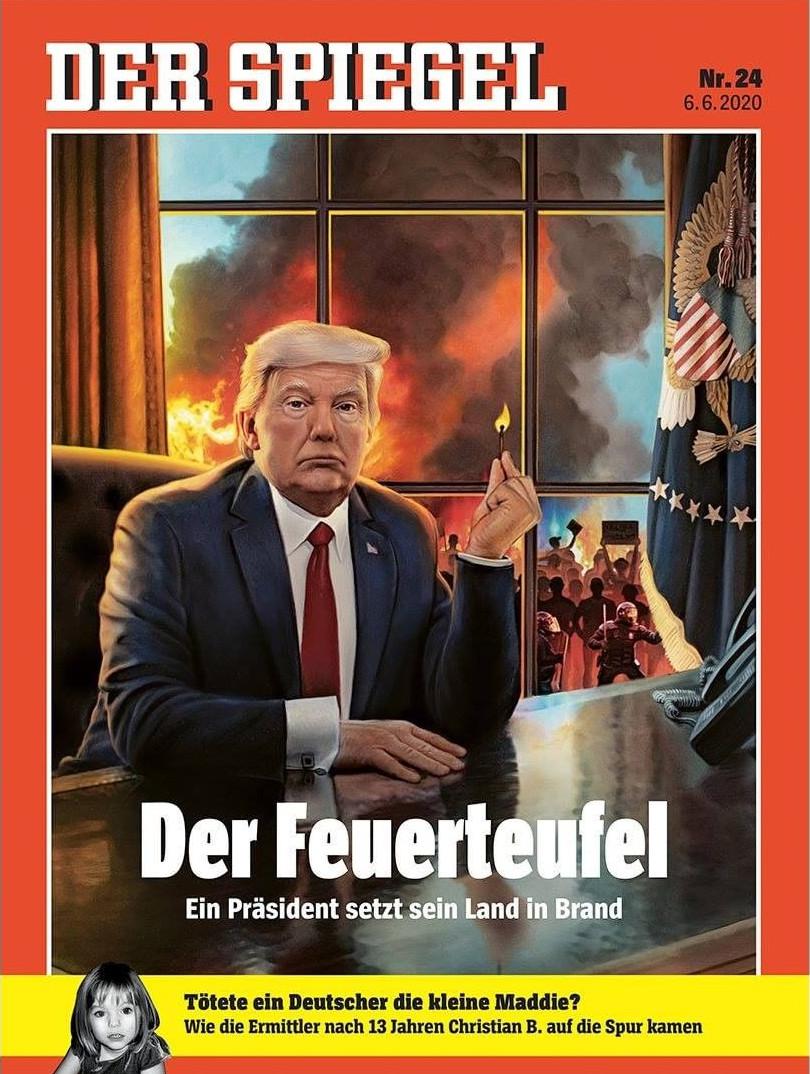 Ο Ντόναλντ Τραμπ εικονίζεται ως «εμπρηστής» στο εξώφυλλο του Spiegel