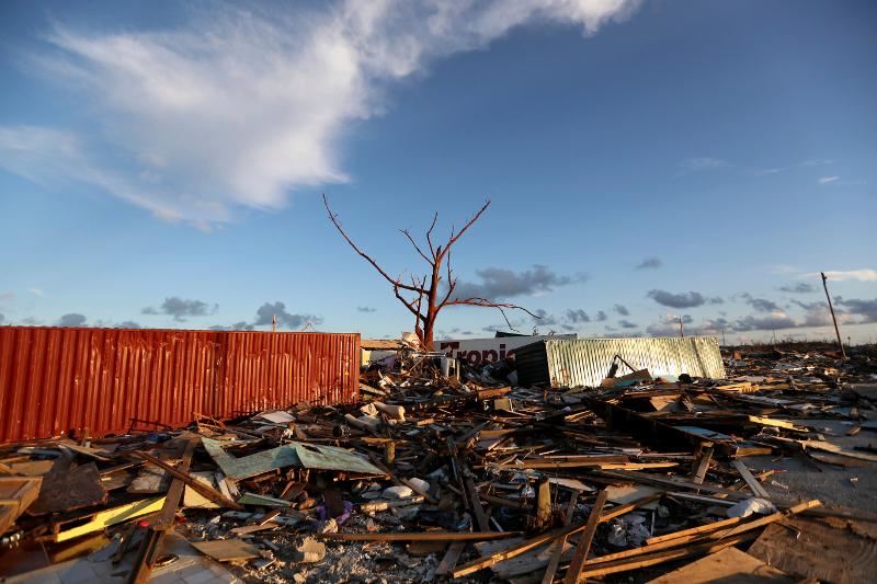 Οι καταστροφές που άφησε στο «πέρασμά» του ο τυφώνας Dorian / Φωτογραφία: AP
