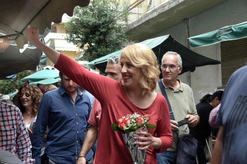 Η απερχόμενη Περιφερειάρχης Ρένα Δούρου σε περιοδεία