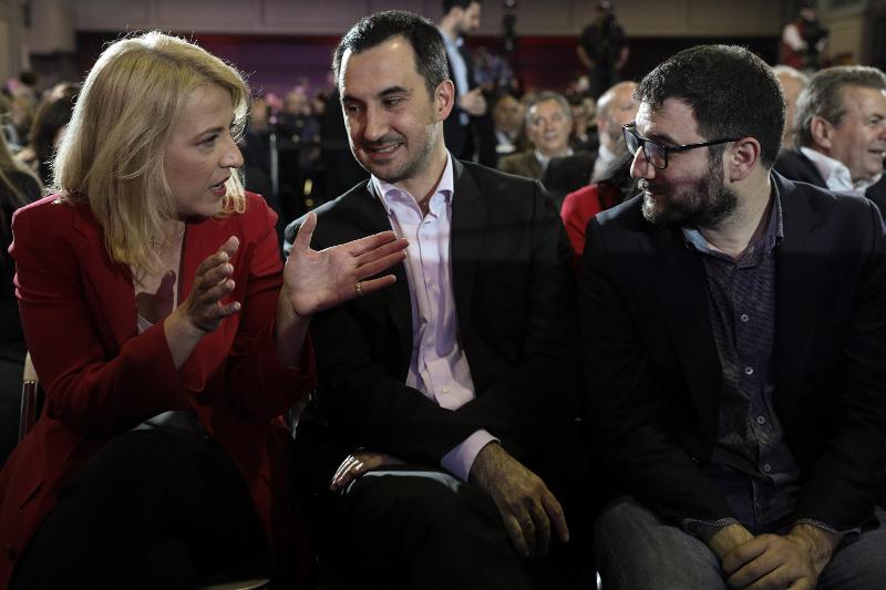 Η Ρένα Δούρου, ο Αλέξης Χαρίτσης και ο Νάσος Ηλιόπουλος