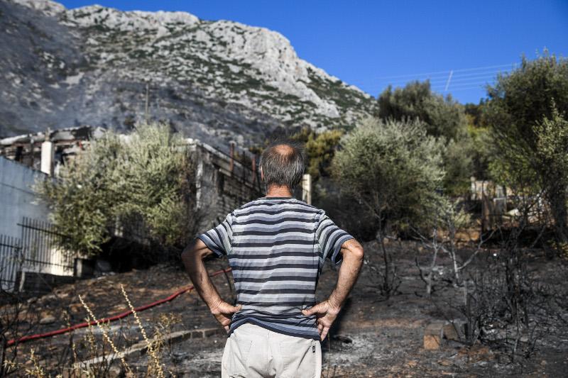 Εδώ ξεκινησε η φωτιά και ανέβηκε στο βουνό