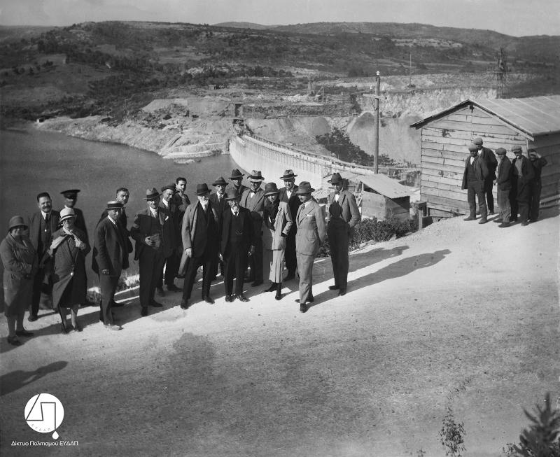 Τα εγκαίνια του Φράγματος του Μαραθώνα, 1929/Φωτογραφία: Ιστορικό Αρχείο ΕΥΔΑΠ