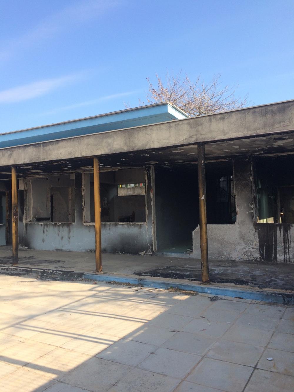Κατεστραμμένο από την πυρκαγιά το ειδικό σχολείο Ραφήνας