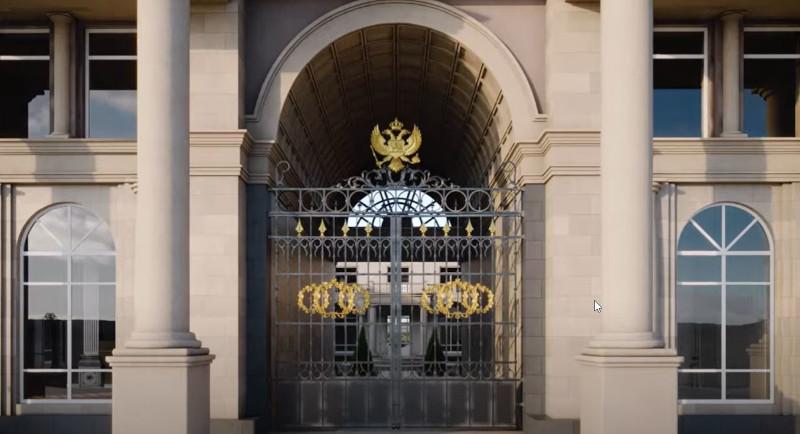 Η είσοδος του παλατιού του Βλαντιμίρ Πούτιν