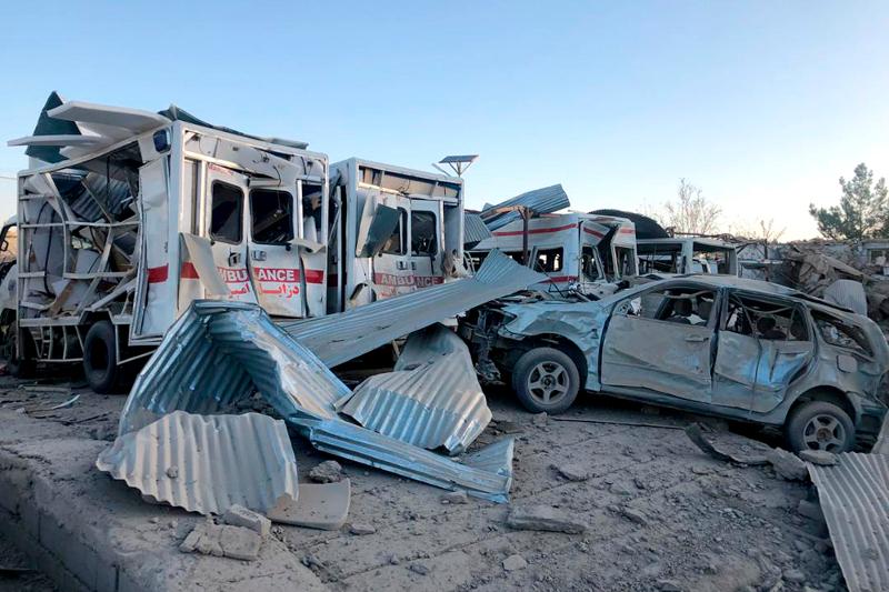 Από την έκρηξη καταστράφηκαν τα ασθενοφόρα του νοσοκομείου
