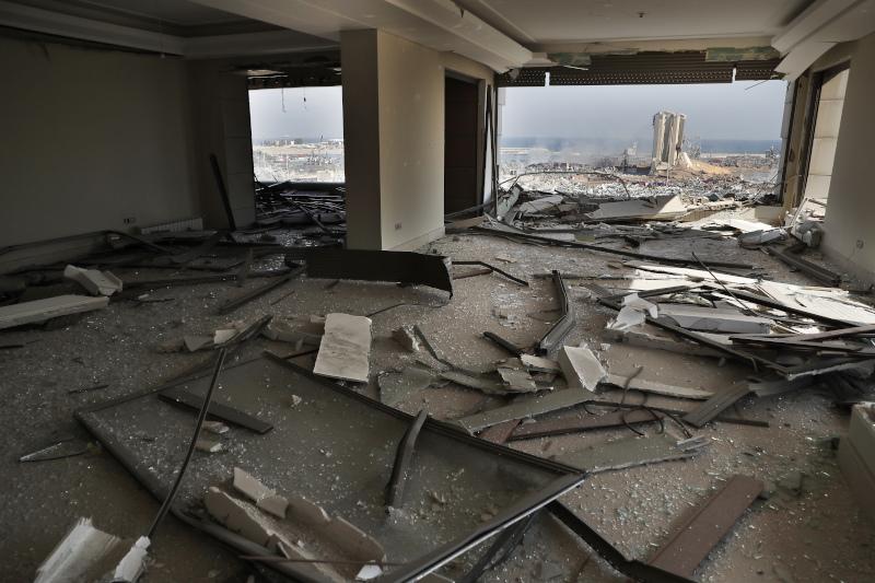 Καταστροφές μέσα σε σπίτι στη Βηρυτό