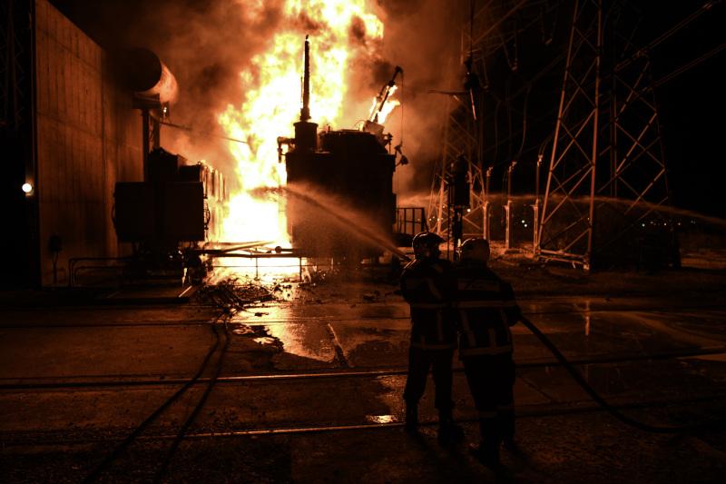Πυρκαγιά σε Υποσταθμό της ΑΔΜΗΕ στα Νεόκτιστα Ασπροπύργου