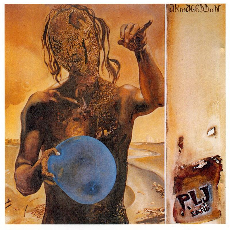 Το εξώφυλλο του άλμπουμ ARMAGEDDON των PLJ, έργο του ζωγράφου Αριστομένη Τσολάκη