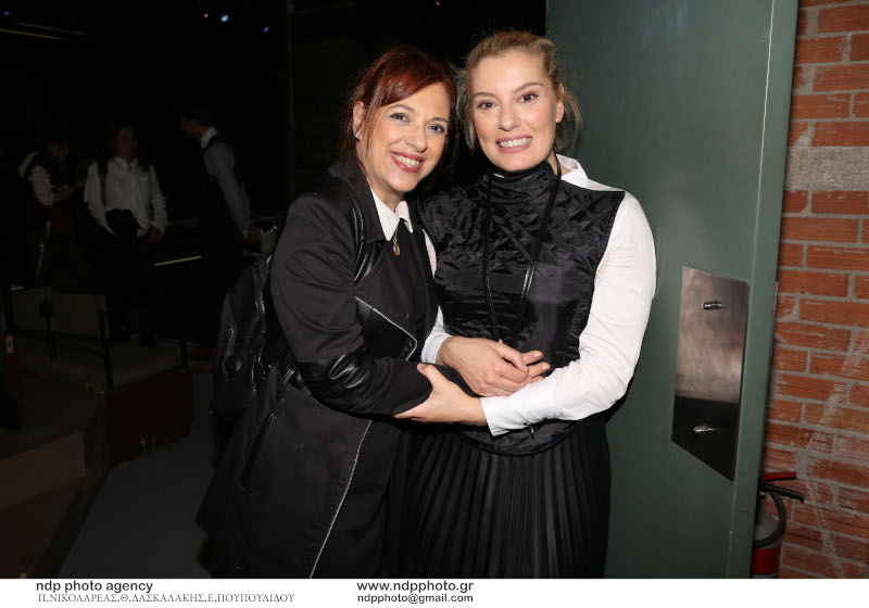 Η Ελένη Ράντου με την Ιριδα Πανταζάρα