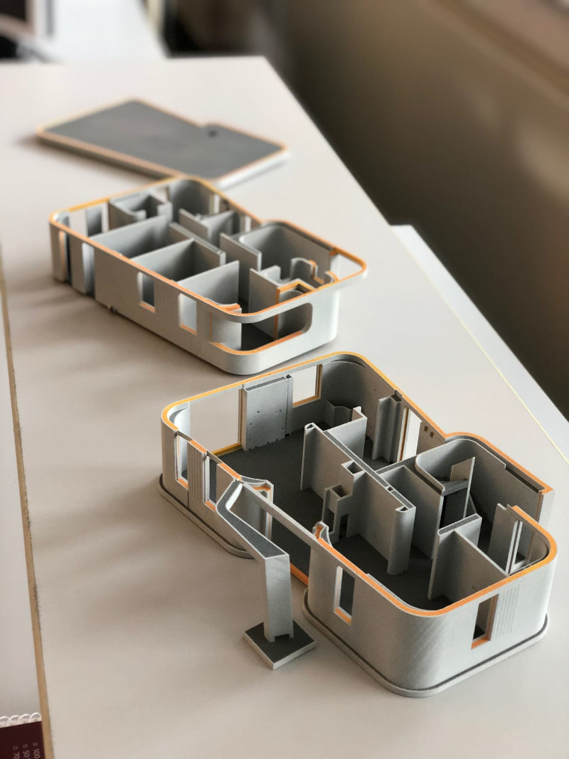 H μακέτα του σπιτιού που τυπώθηκε με 3D εκτυπωτή