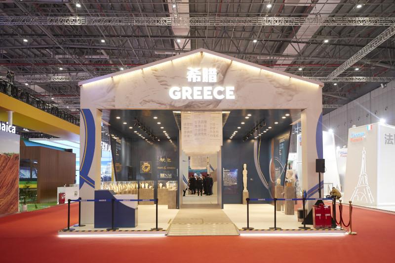 Το ελληνικό περίπτερο στην China International Import Expo 2019