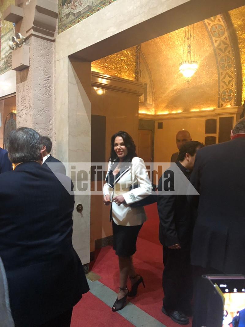 Η Κατερίνα Παναγοπούλου στην ενθρόνιση του Ελπιδοφόρου