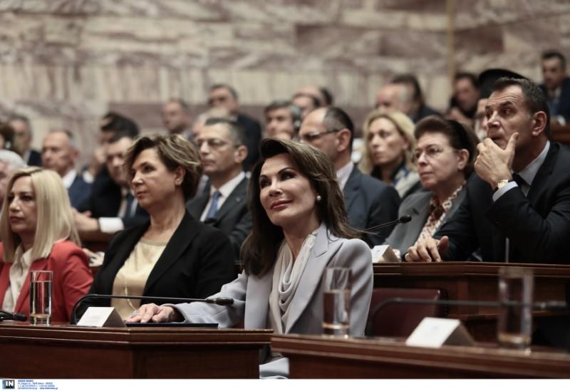 Επιτροπή 2021 Γιάννα Αγγελοπούλου Βουλή  Κυριάκος Μητσοτάκης Ολγα Γεροβασίλη Φώφη Γεννηματά