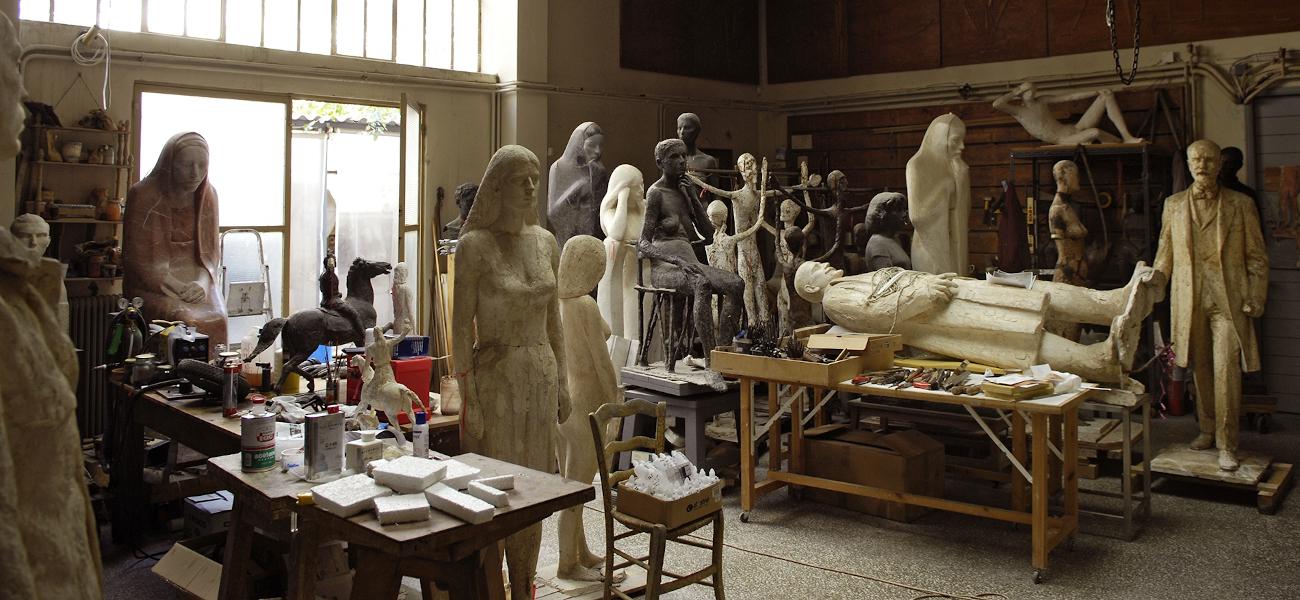 εργαστηριο αγαλματα