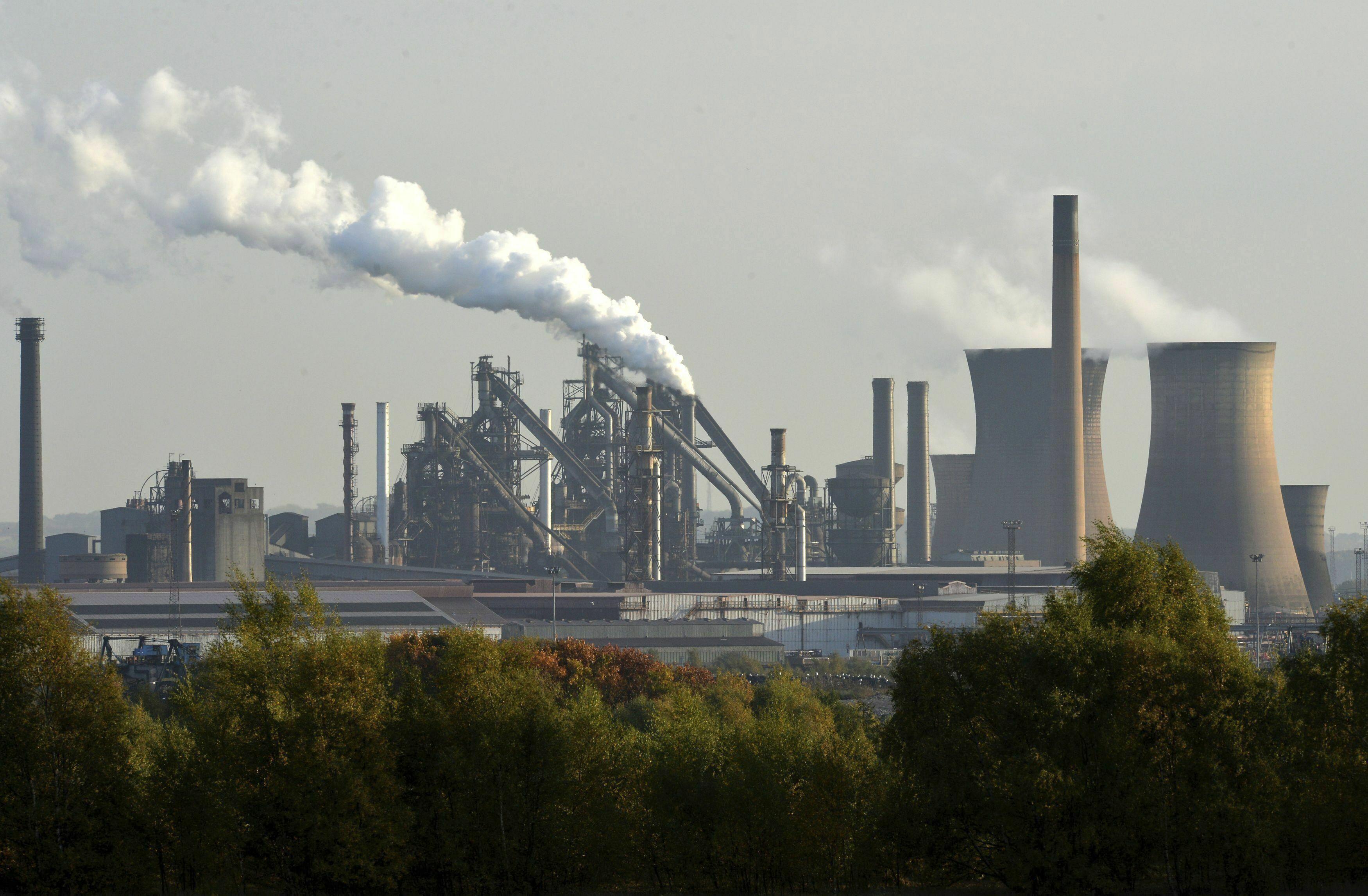 Εργοστάσιο που ανήκει στην British Steel, στο Σκάνθροπ της Αγγλίας
