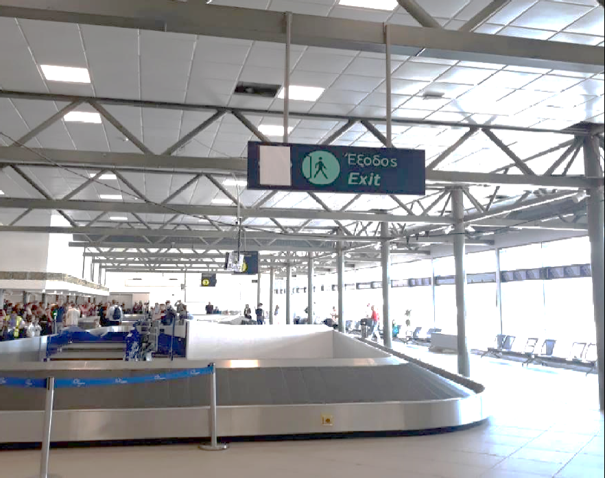 Αλλη εικόνα στο αεροδρόμιο της Κέρκυρας. Ενα σύγχρονο αεροδρόμιο