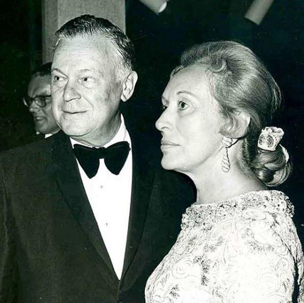 H Estée Lauder με τον σύζυγό της
