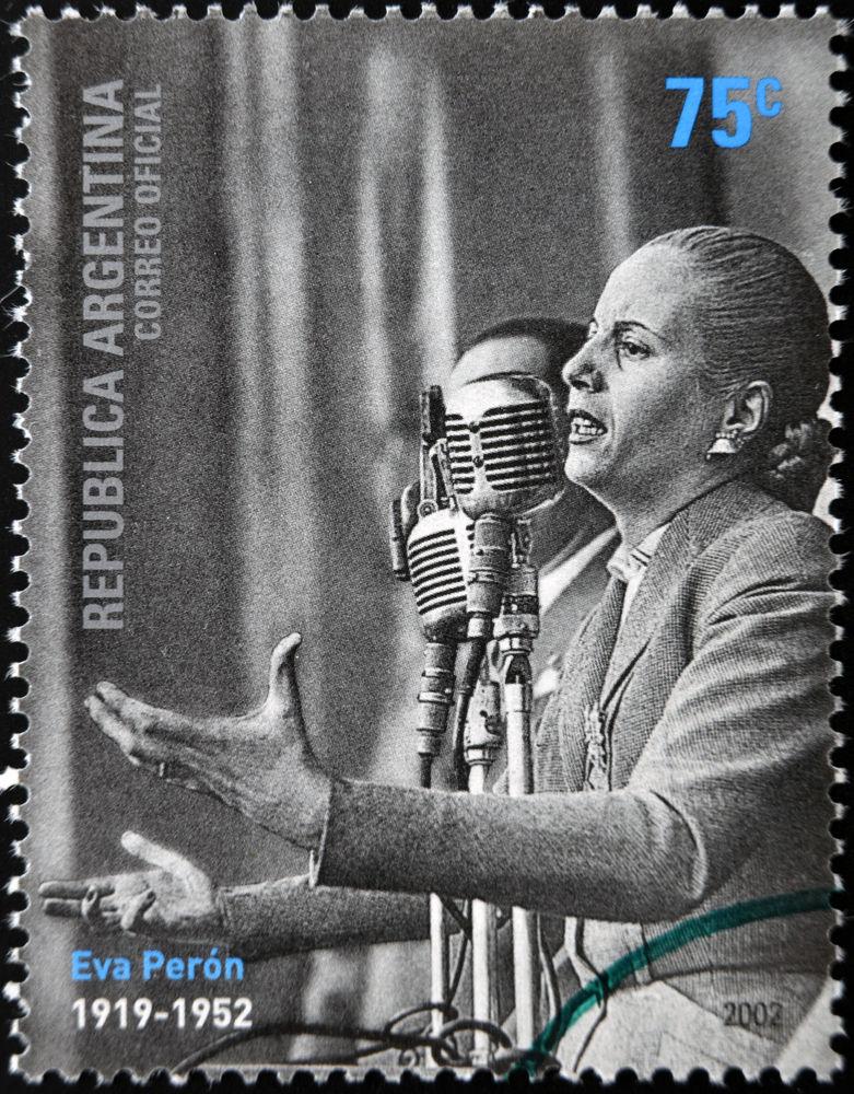 Η ομιλία της Εβίτα Περόν στο περίφημο μπαλκόνι έγινε γραμματόσημο