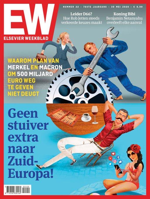 Το εξώφυλλο του εβδομαδιαίου Ολλανδικού περιοδικού Elsevier