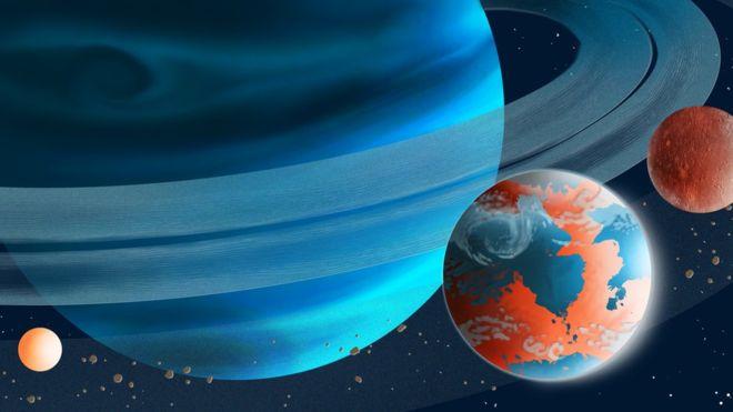 Καλλιτεχνική απεικόνιση «εξωφεγγαριού» κάποιου μακρινού πλανήτη.