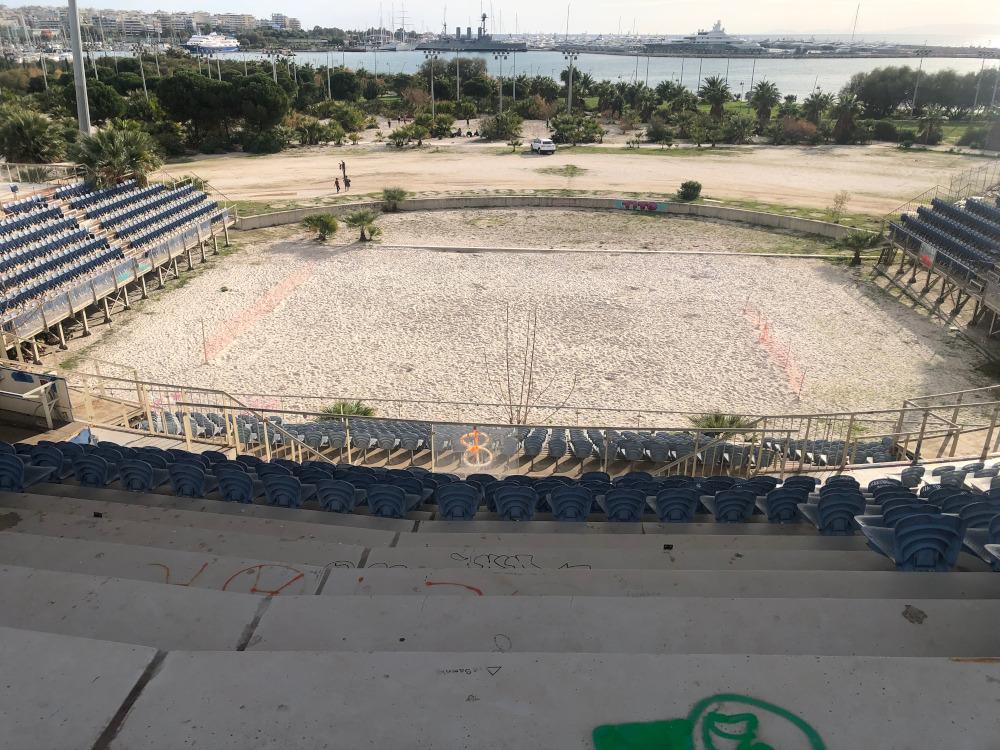 To γήπεδο του beach volley σήμερα