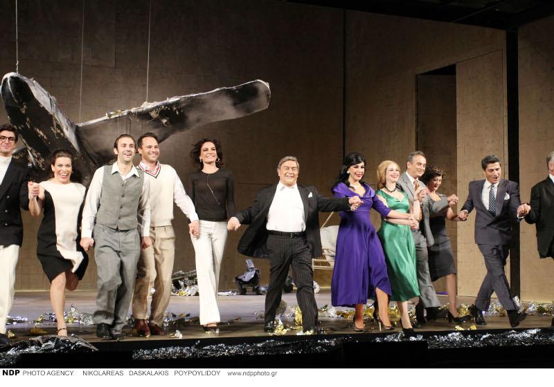 Στιγμιότυπο από την πρεμιέρα της παράστασης «Ωνάσης: Τα θέλω όλα»/Φωτογραφία: Ndp photos