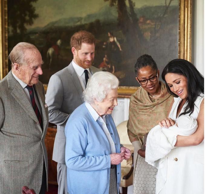 Πρίγκιπας Φίλιππος, πρίγκιπας Χάρι, βασίλισσα Ελισάβετ, Ντόρια Ράγκλαντ, Μέγκαν Μαρκλ, Αρτσι