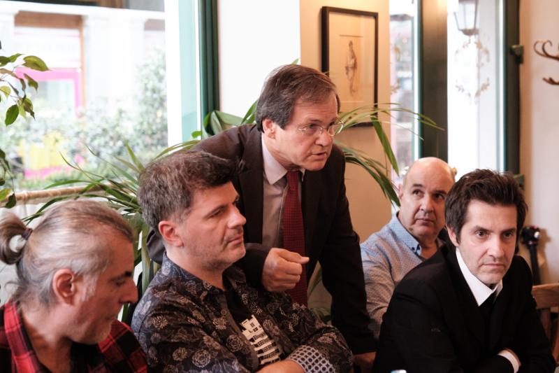 Ο Φοίβος Δεληβοριάς με τον Χρήστο Νικολόπουλο στην συνάντηση με τον Κυριάκο Μητσοτάκη
