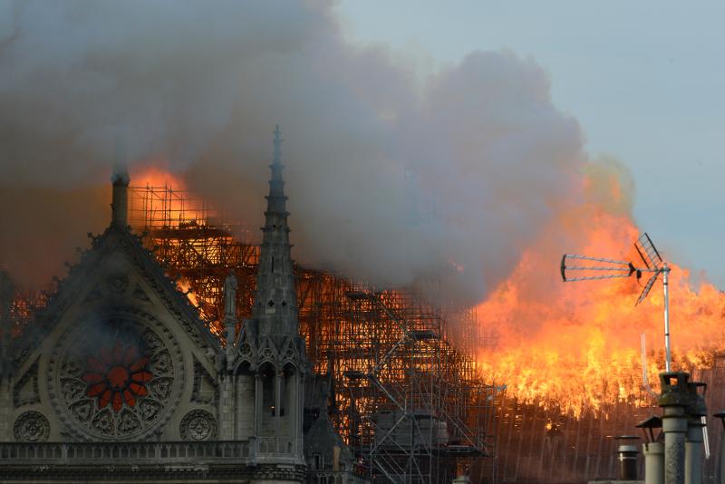 Παναγία των Παρισίων στις φλόγες