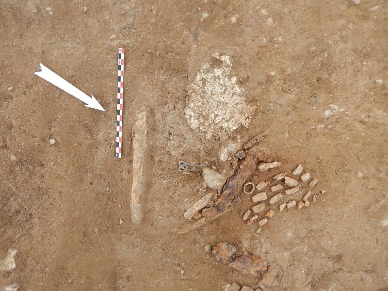 Ευρήματα στον αρχαιολογικό χώρο Αχλάδας Φλώρινας / Φωτογραφία: EUROKINISSI