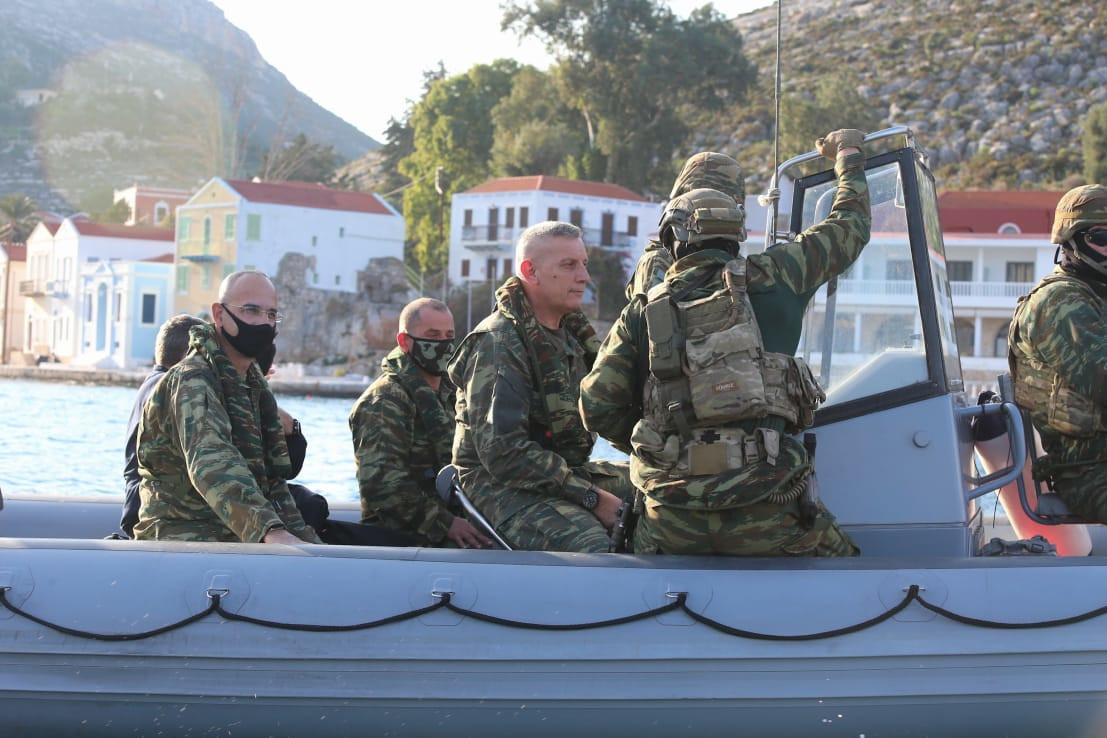 Επίσκεψη Αρχηγού ΓΕΕΘΑ σε Κρήτη, Κάρπαθο, Καλόλιμνο, Ρόδο και σύμπλεγμα Καστελορίζου