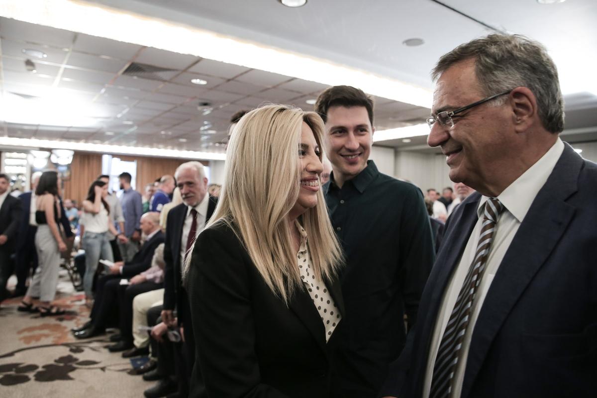 Φώφη Γεννηματά, Παύλος Χρηστίδης και ο υπεύθυνος ΚΙΝΑΛ για την Οικονομία, Νίκος Χριστοδουλάκης