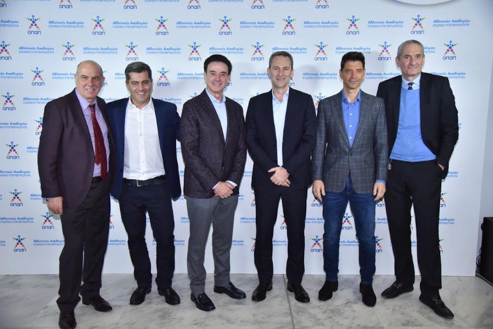 Σπύρος Φωκάς, Α΄ Αντιπρόεδρος ΟΠΑΠ, Οδυσσέας Χριστοφόρου Αναπληρωτής Διευθύνων Σύμβουλος ΟΠΑΠ, Ρικ Πιτίνο, Ντάμιαν Κόουπ, Διευθύνων Σύμβουλος ΟΠΑΠ, Σάκης Ρουβάς, Καμίλ Ζίγκλερ, Εκτελεστικός Πρόεδρος ΟΠΑΠ