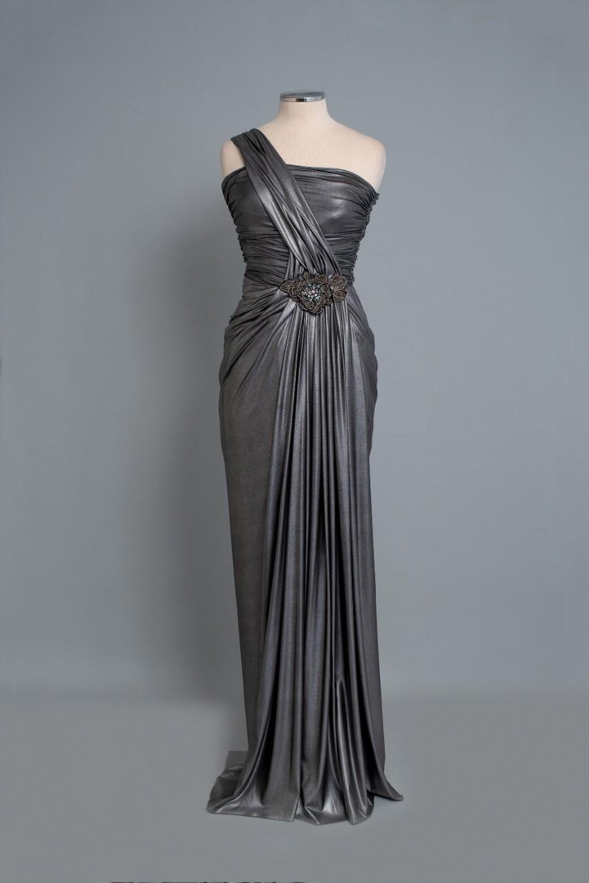 φορεμα ασημί