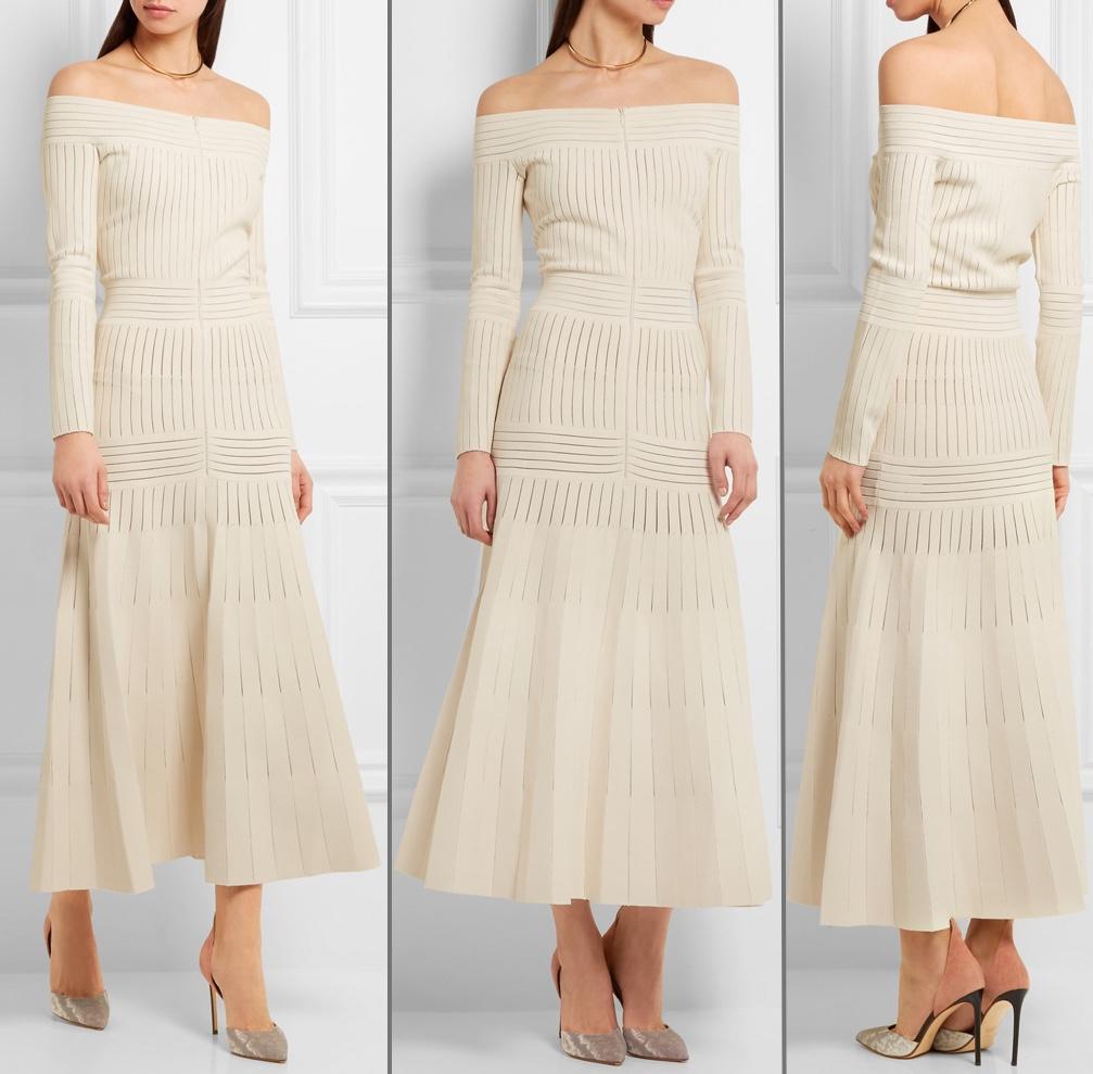 Το λευκό πλεχτό φόρεμα Barbara Casasola που φόρεσε η Κέιτ Μίντλετον