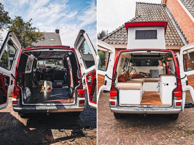 Η οικογένεια ανακαίνισε το 2003 Volkswagen T4 φορτηγάκι της
