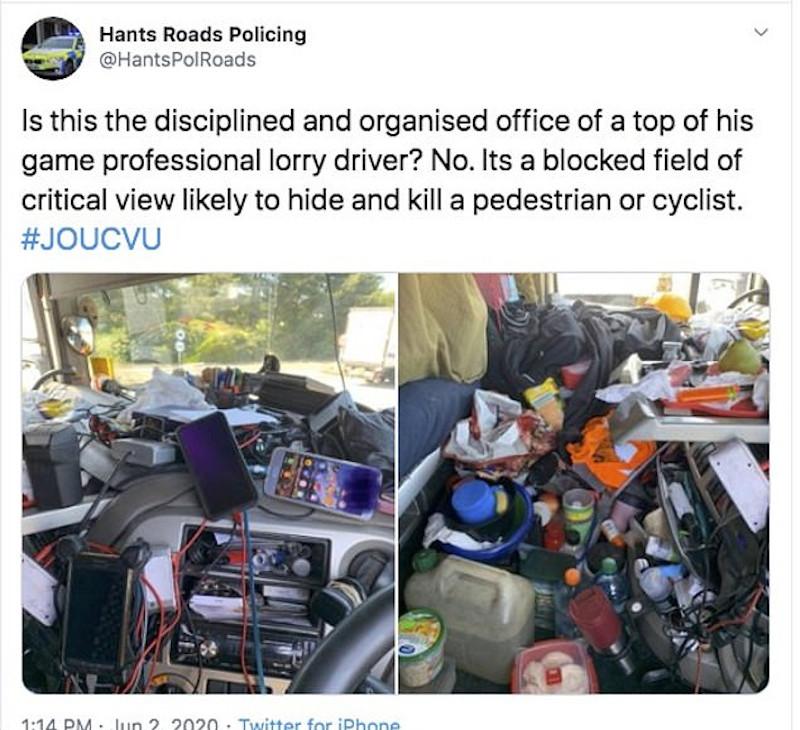 Φορτηγό γεμάτο σκουπίδια