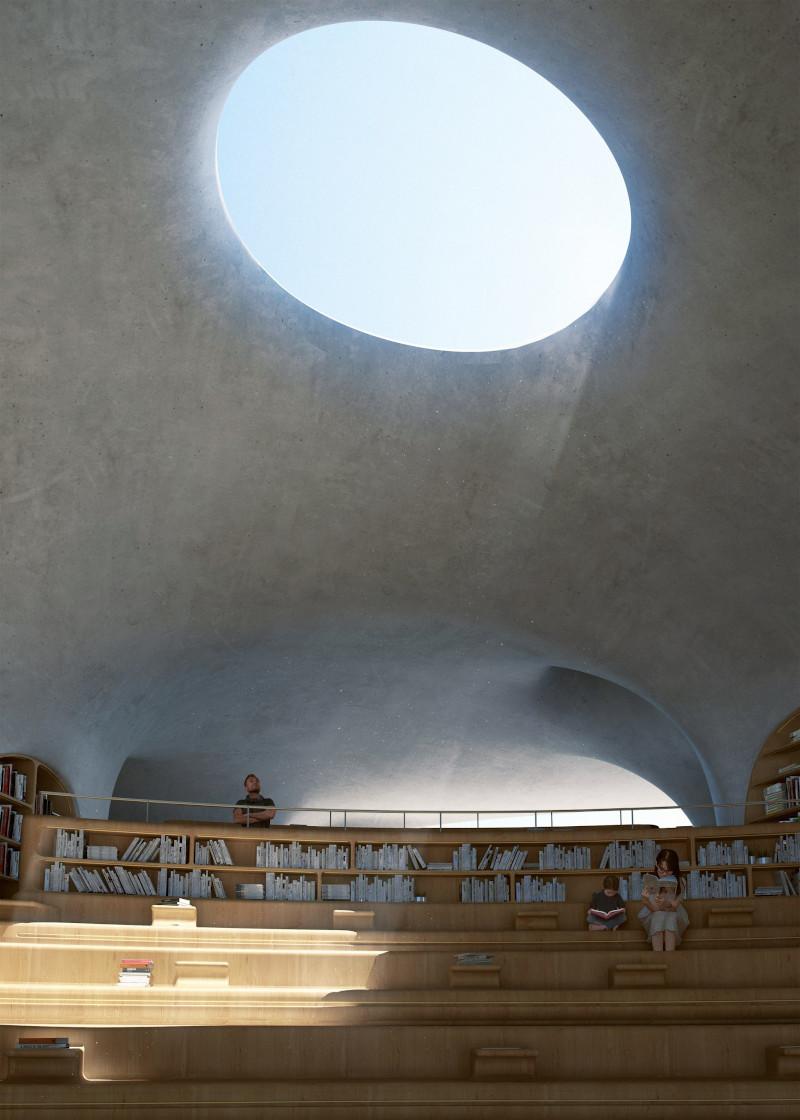 Οι τρύπες στις οροφές επιτρέπουν την είσοδο του φυσικού φωτός