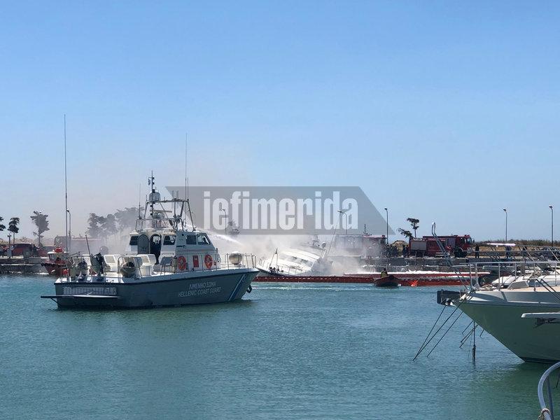 Σκάφος του Λιμενικού επιχειρεί στη μαρίνα Γλυφάδας