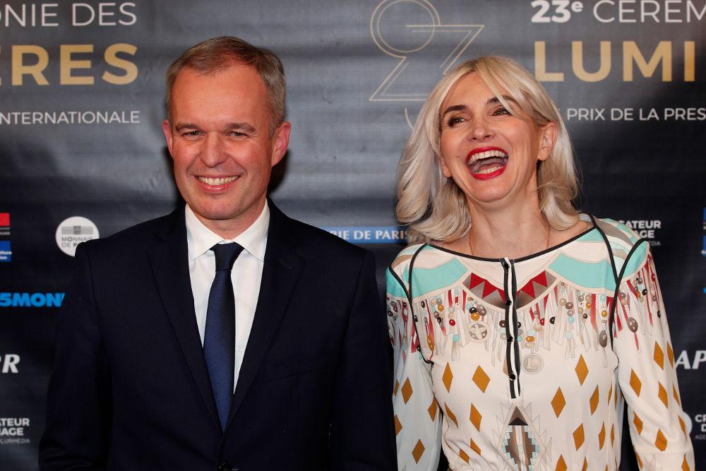 Ο Φρανσουά Ντε Ρουζί και η σύζυγός του Σεβερίν