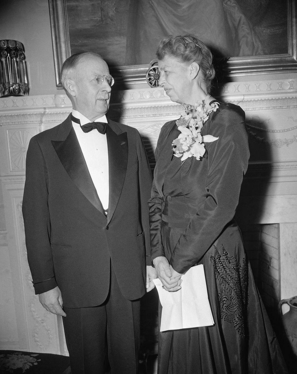 Η Ελέανορ Ρούσβελτ και ο πρόεδρος των ΗΠΑ, Φράνκλιν στον Λευκό Οίκο