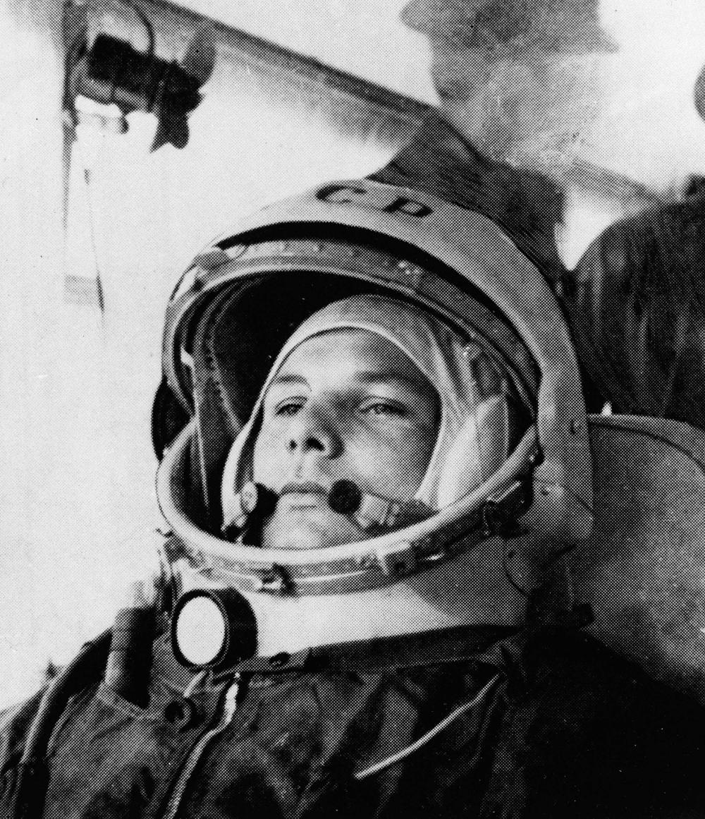 Φωτογραφία αστροναύτη, του πρώτου που βρέθηκε σε τροχιά γύρω από τη γη. Γιούρι Γκαγκάριν